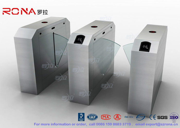 Pedestrian Turnstile Flap Barrier Gate Access Control System Half Height 550mm Passage Width