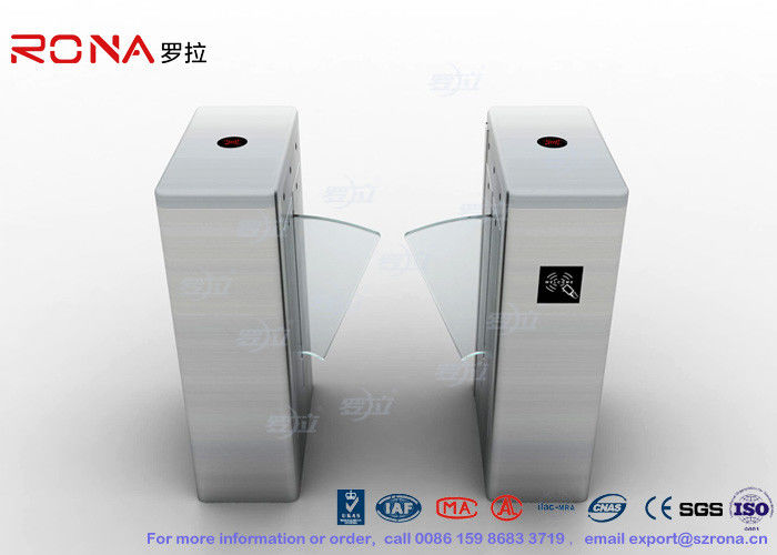 Flap Barrier Gate Half Height Turnstiles Entrance With Red Soft Flapper