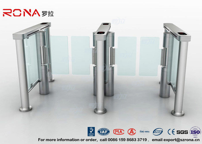 Swing Barrier Gate Pedestrian Security Gate Visitor Entry Access Control For Office Building With CE approved