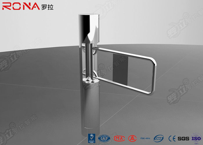 Security Swing Gate Turnstile Pedestrian Access Control With Glass / Acrylic Arm